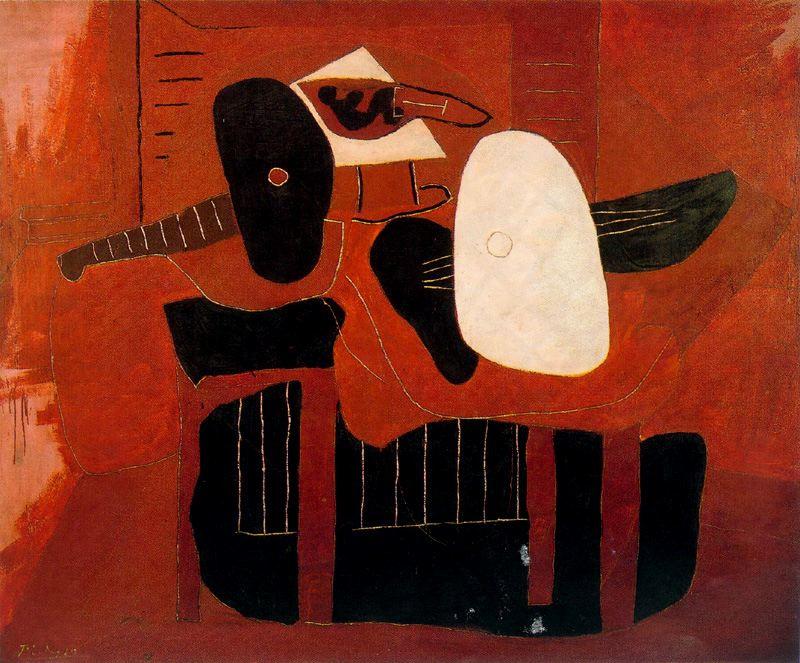 Пабло Пикассо. Музыкальные инструменты на столе