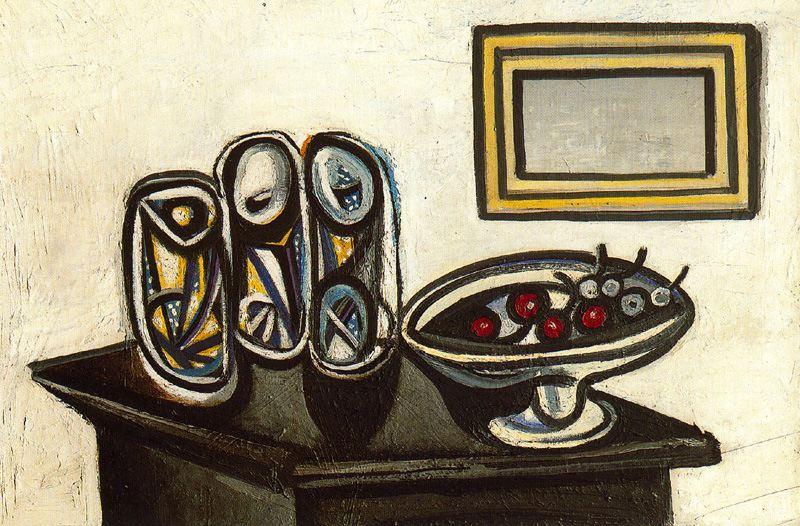Пабло Пикассо. Натюрморт с вишнями
