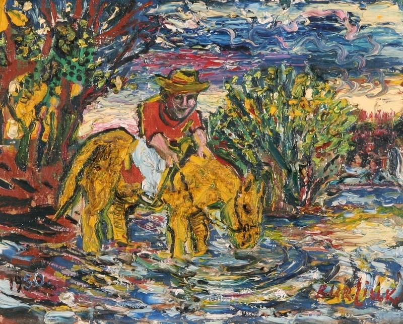 Давид Давидович Бурлюк. Человек на желтой лошади
