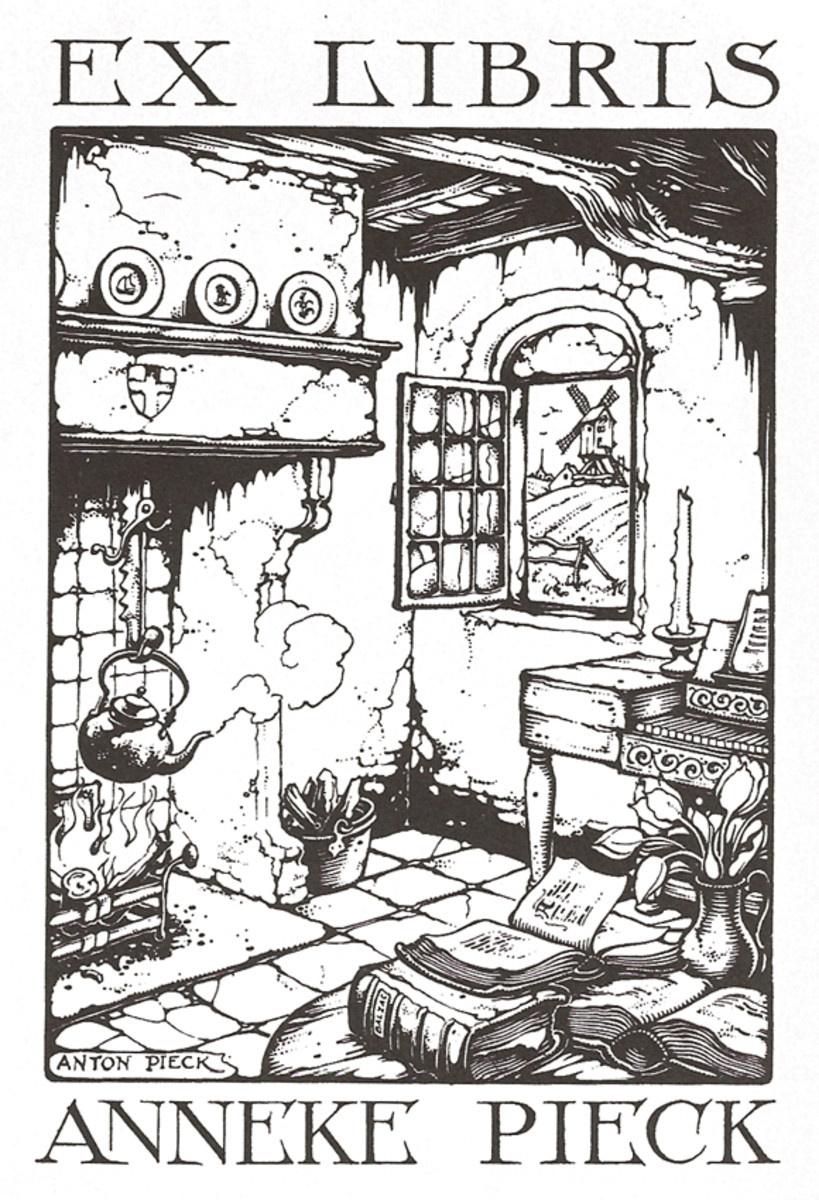 Anton Pieck. Home interior