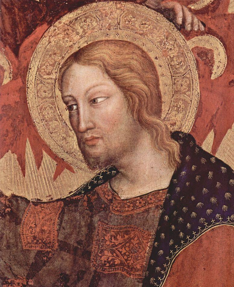 Джентиле да Фабриано. Коронование Марии, центральная часть, сцена: Коронование Марии, деталь: Христос