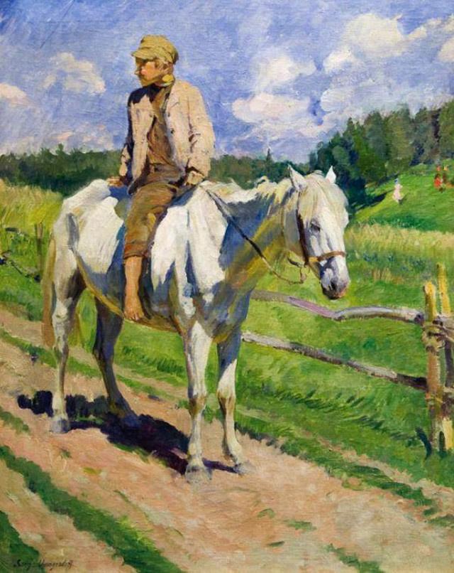 Sergey Arsenievich Vinogradov. The boy on the horse
