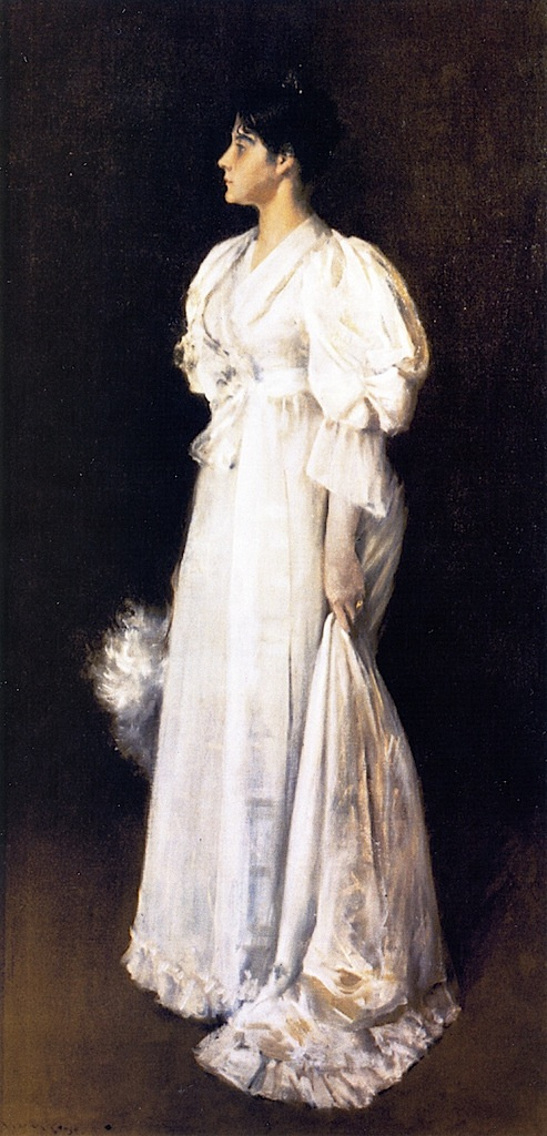 William Merritt Chase. The woman in white