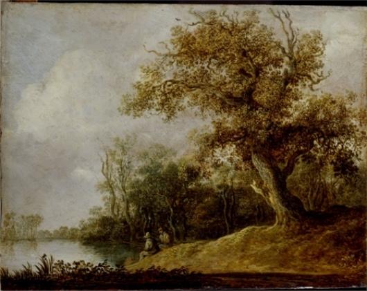 Jan van Goyen. Forest pond
