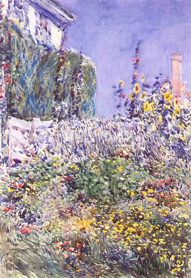 Childe Hassam. Dexterity garden