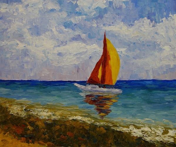 Larissa Lukaneva. Sailboat