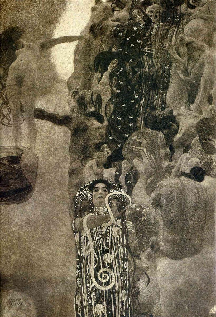Gustav Klimt. Medicine. The ceiling paintings for Vienna University (photo)
