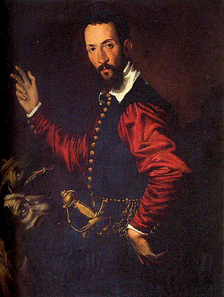 Бартоломео Пассапотти. Портрет мужчины с двумя собаками