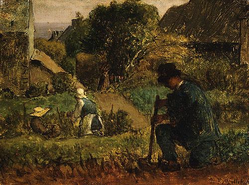 Жан-Франсуа Милле. Сцена в саду