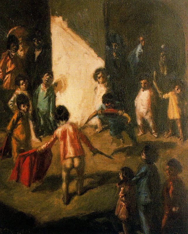 Baldomero Romero Ressendi. Children play in a bullfight
