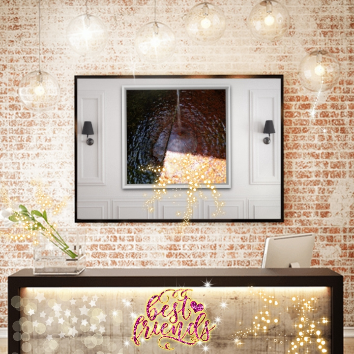 Natalya Garber. Best friends. VR art for a reception company, a restaurant counter or a welcome area of a communication center with a human face