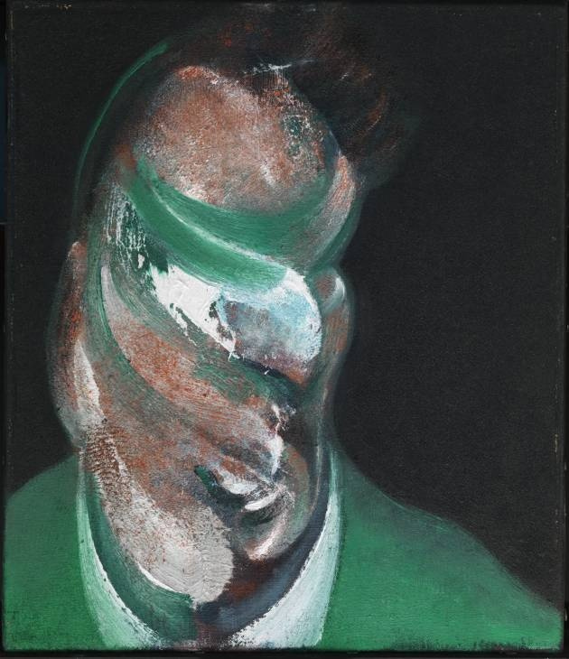 Francis Bacon. Sketch of the head of Lucian Freud