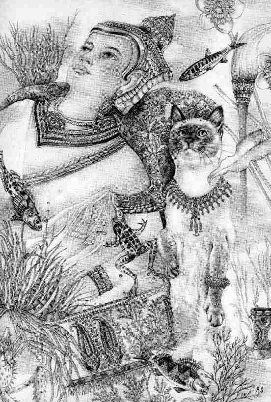 Адриенн Сегур. Кот с изогнутым хвостом