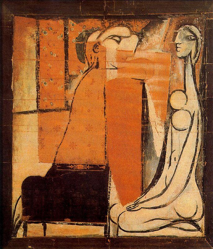 Пабло Пикассо. Признания (Две женщины, эскиз для гобелена)
