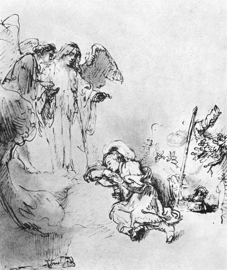 Рембрандт Ван Рейн. Сон Иакова