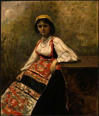 Камиль Коро. Итальянская девушка