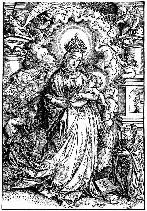 Ханс Бальдунг. Стоящая Мария с младенцем