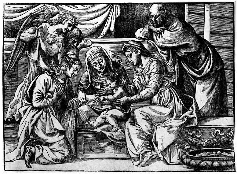 Тициан Вечеллио. Мистическое обручение святой Екатерины