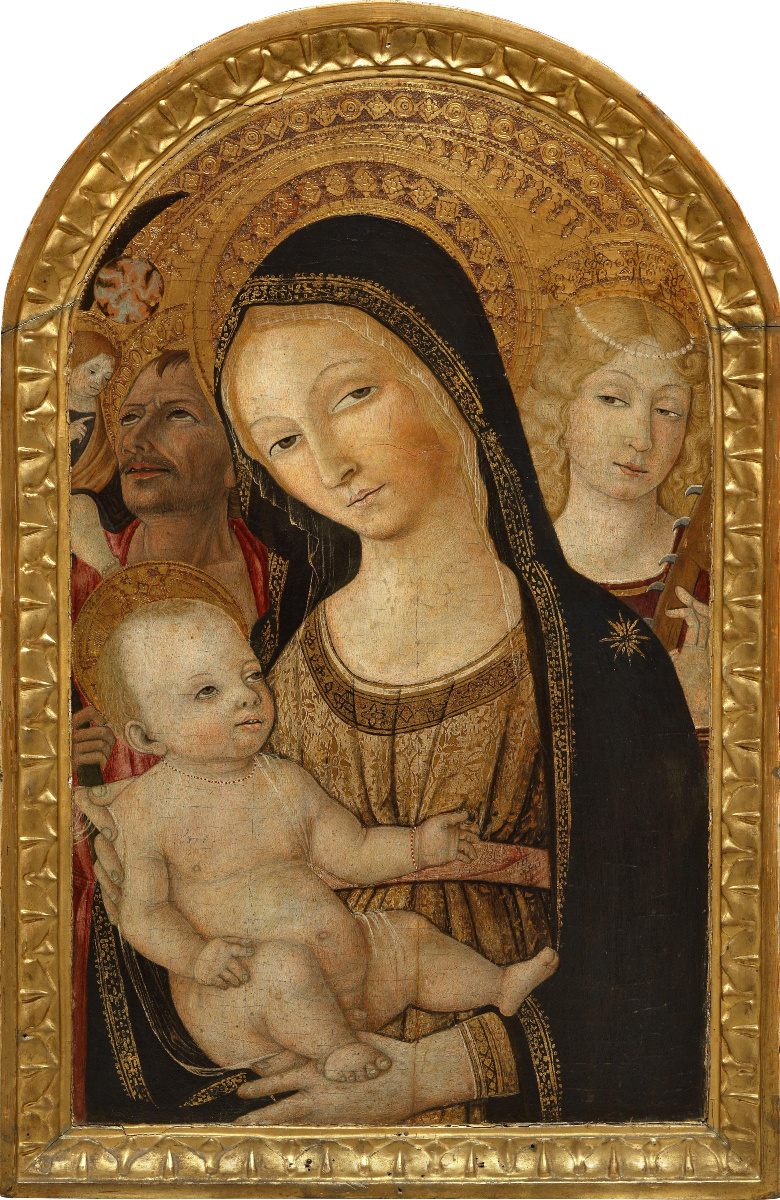 Matteo di Giovanni. Madonna and Child with Saints Catherine and Christopher