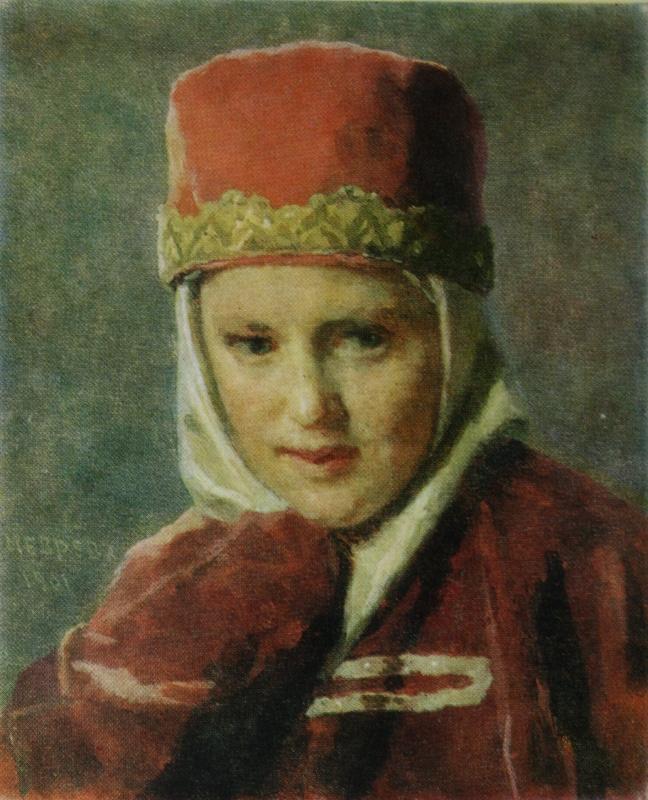 Николай Васильевич Неврев. Боярышня.  1901