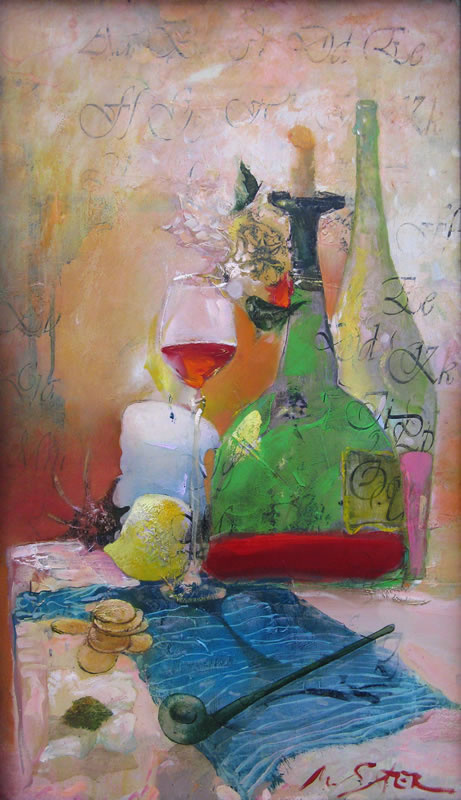 Sergei Matyash. Still life with a pipe