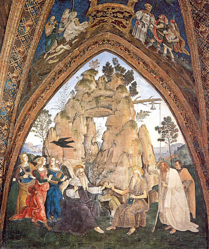 Pinturicchio. Meeting