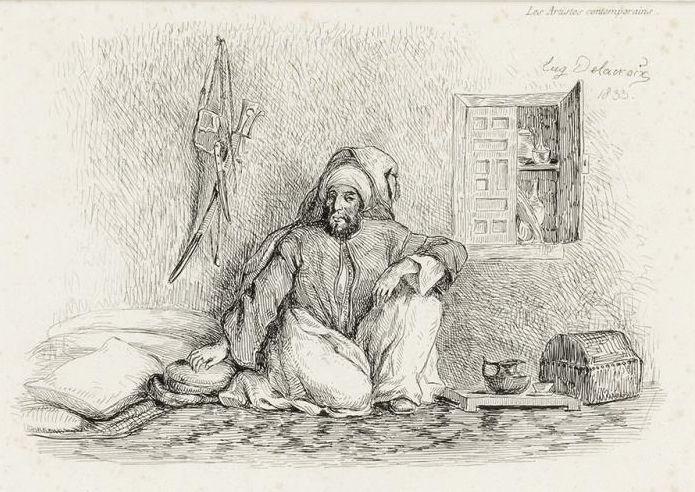 Eugene Delacroix. Saeed Mohammed Ben Abu