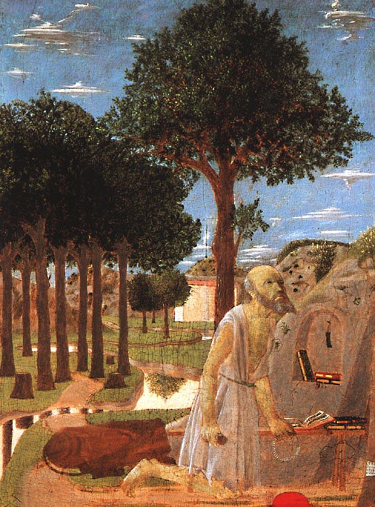 Piero della Francesca. The penance of St. Jerome