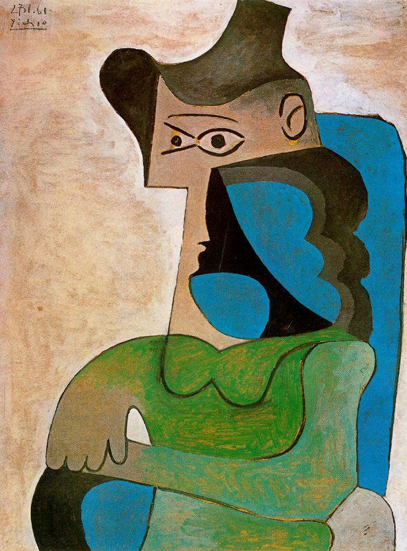 Пабло Пикассо. Сидящая женщина в шляпе