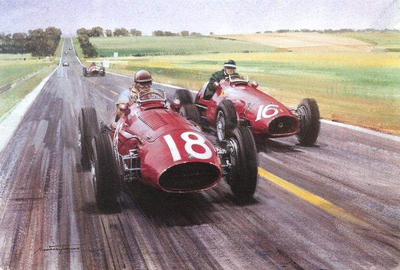 Рой Роб. Красные автомобили гонщиков
