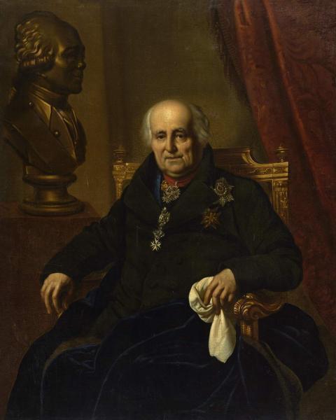 Orest Adamovich Kiprensky. Portrait of Count G. G. Kushelev