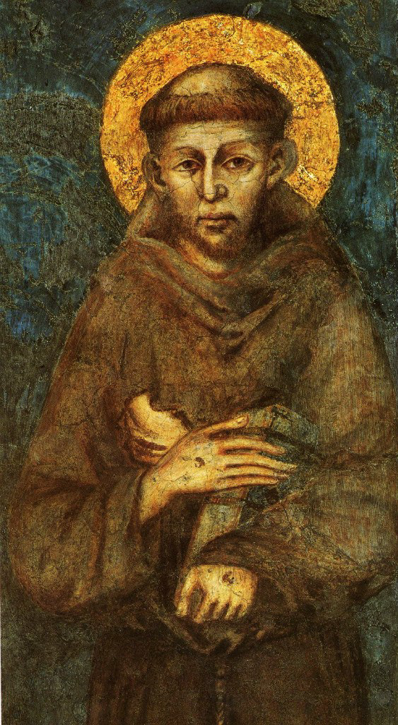 Cimabue (Chenny di Pepo). Saint Francis of Assisi (detail)