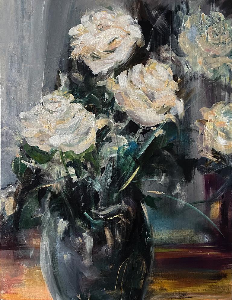 Robert Hettich. Розы белые