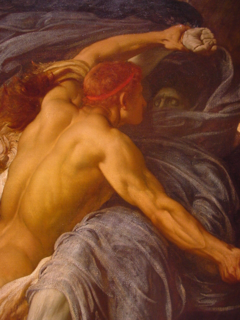 Frederic Leighton. Fight of Hercules and Death for Alceste's body (fragment)