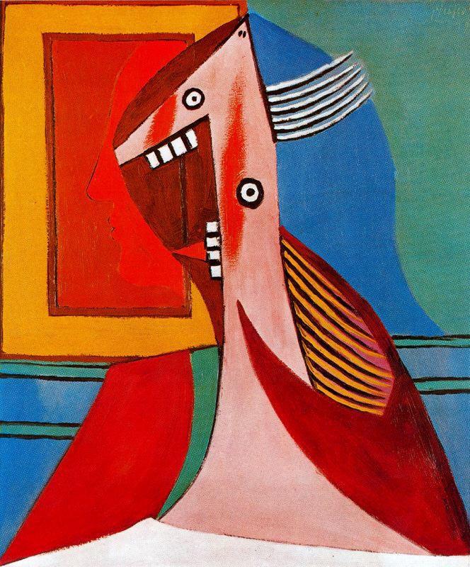 Пабло Пикассо. Бюст женщины и автопортрет