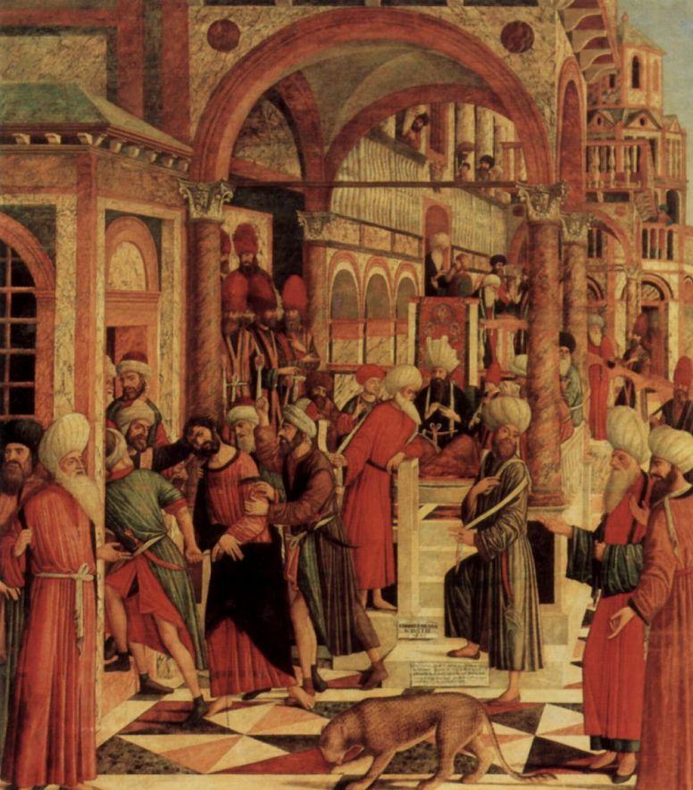 Джованни ди Никколо Мансуэти. Взятие под стражу Святого Марка в синагоге