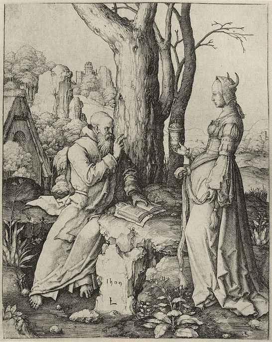 Лукас ван Лейден (Лука Лейденский). Искушение святого Антония