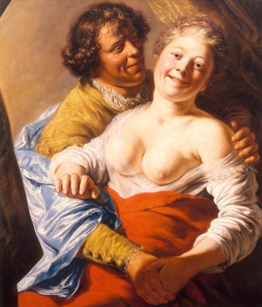 Ян Ливенс. Портрет молодой женщины и ее воздыхателя