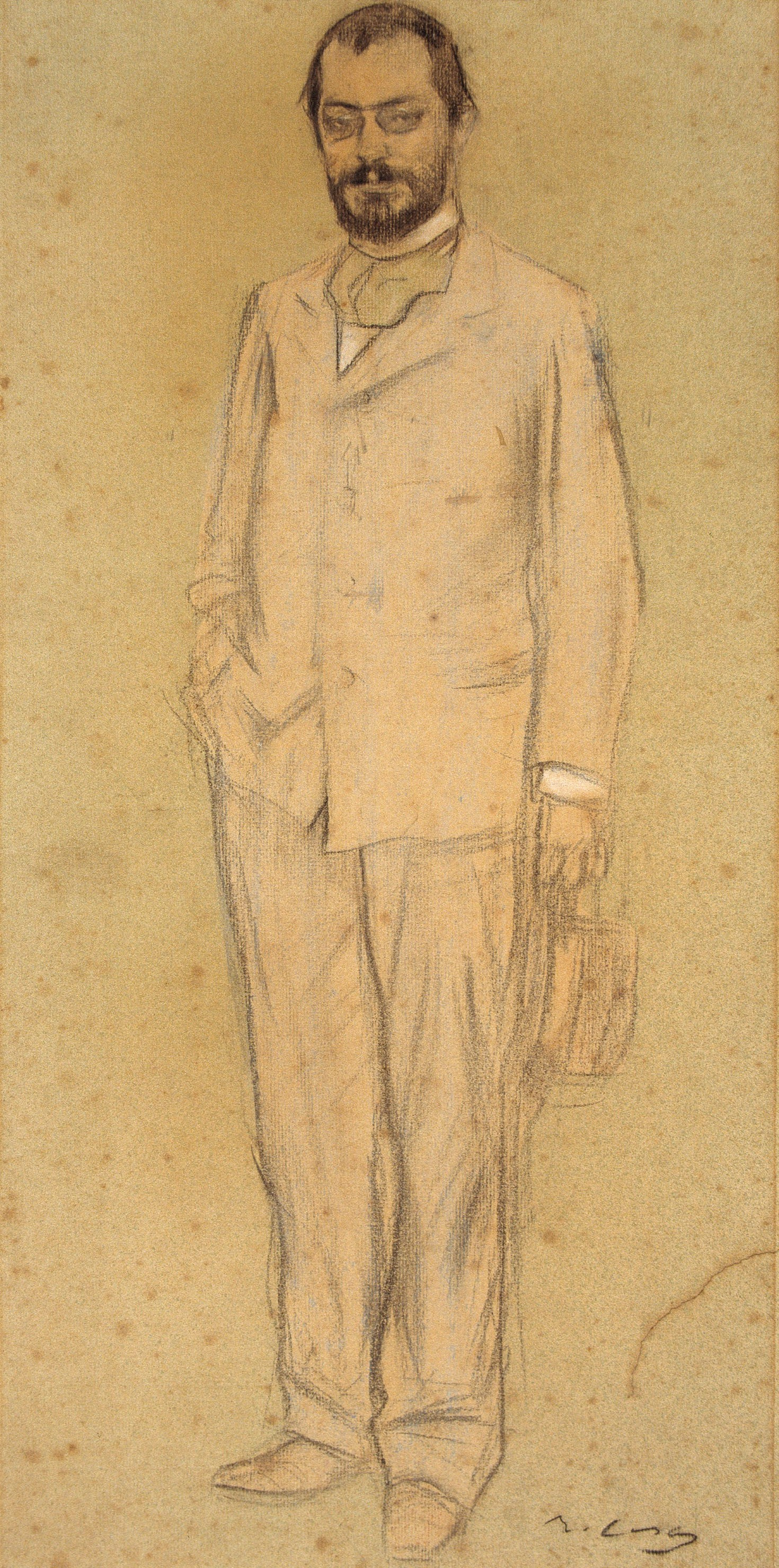 Ramon Casas i Carbó. Portrait of Josep Puig Cadafal