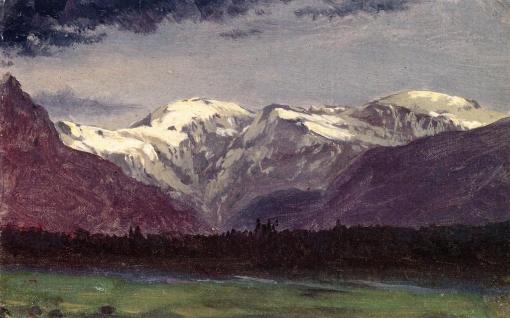 Альберт Бирштадт. Западный пейзаж с цепью гор