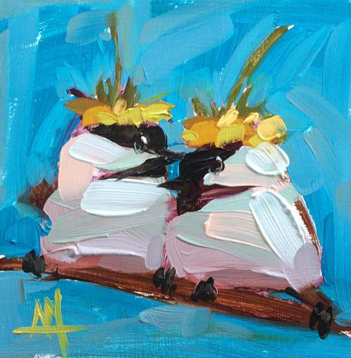 Angela Moulton. Chicks in hats