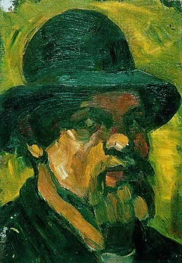 Theo van Dusburg. Self-portrait in a hat