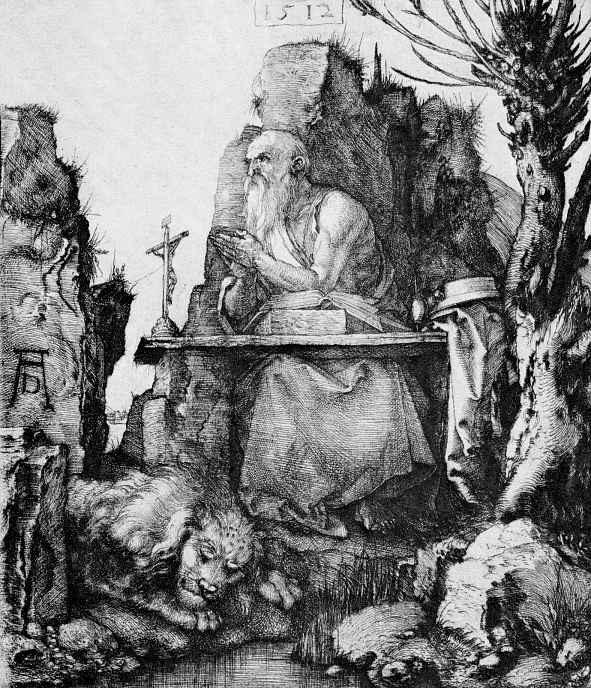 Альбрехт Дюрер. Святой Иероним под ивой