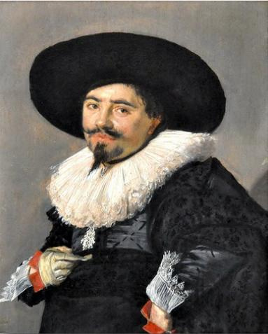 Frans Hals. Portrait of a man in a hat. Perhaps the artist Palamedes Palamedes