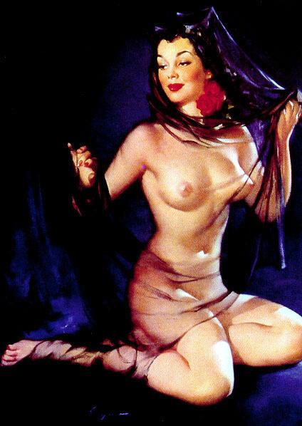 Jill Elvgren. Nude lady