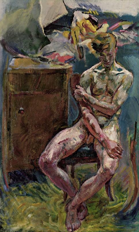Антон Колиг. Сидящий юноша (На утро)