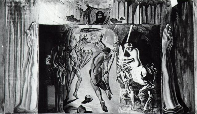 "Salvador Dali. Sketch of scenery for ""Romeo and Juliet"""