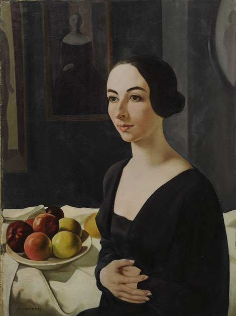 Felice Casorati. Portrait Heny, Rigotti