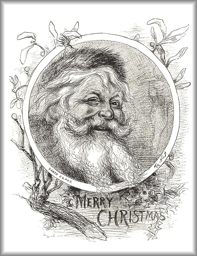 Томас Наст. 03 Набросок Санта Клауса