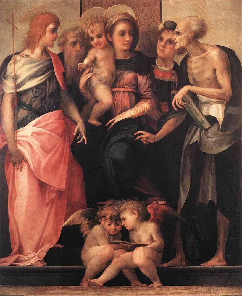 Россо Фьорентино. Богородица и младенец